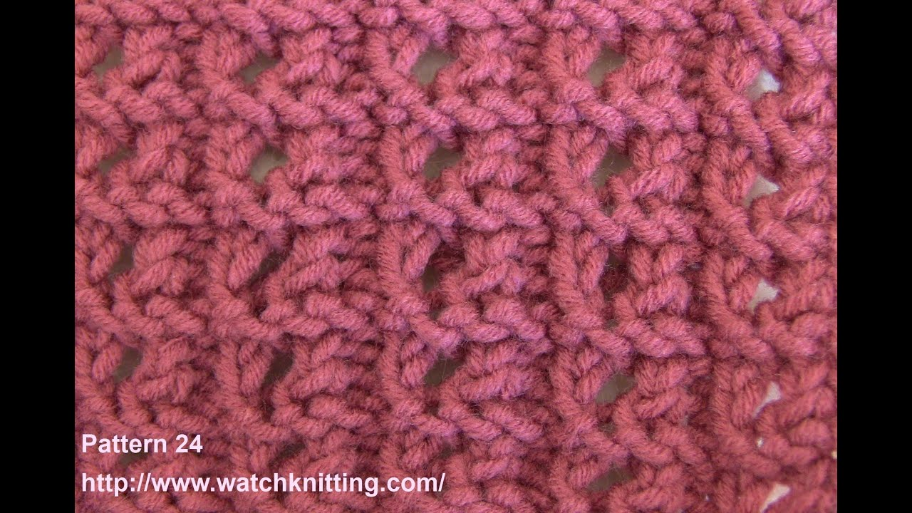 Lace Knitting Stitches - Free Knitting Patterns- Watch Knitting- Stitch 24 - ...