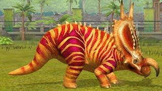 Jurassic World Game Mobile #123: Khủng long ăn cỏ Einiosaurus đầy sắc màu