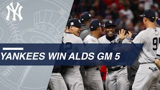 See the Yankees close out the 9th inning to clinch the ALDS