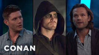 "Jensen Ackles & Jared Padalecki On A ""Supernatural/Arrow"" Crossover  - CONAN on TBS"