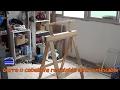 Cómo hacer una burra o caballete regulable altura plegable con palet