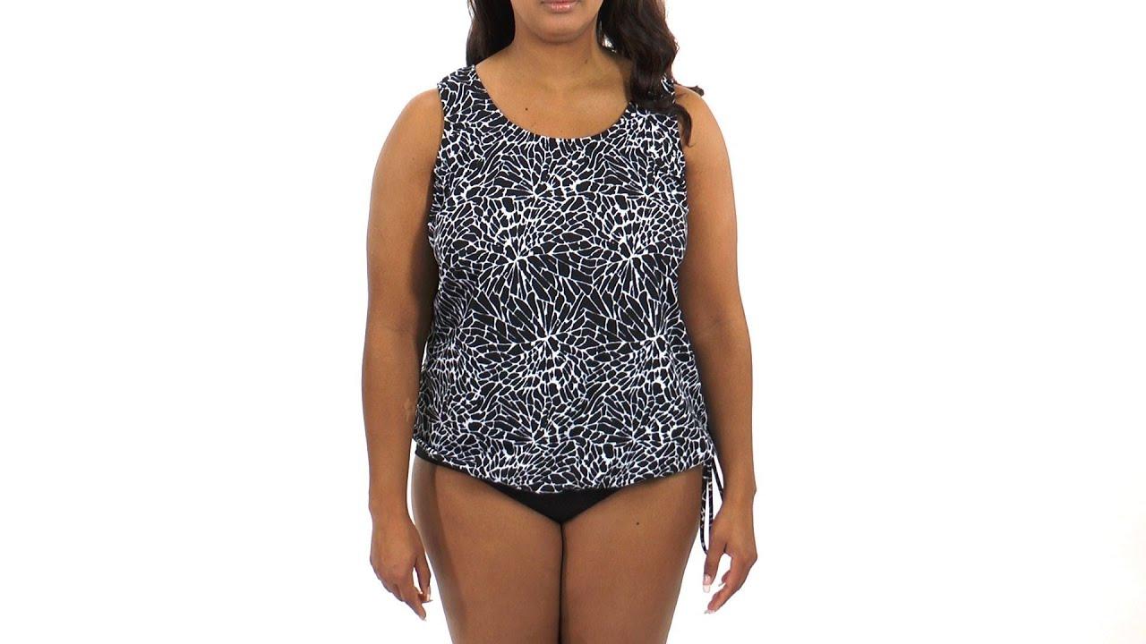 d60ca0212b4a4 Topanga Ice Crystal Plus Size Wear Your Own Bra Mastectomy Tankini Top