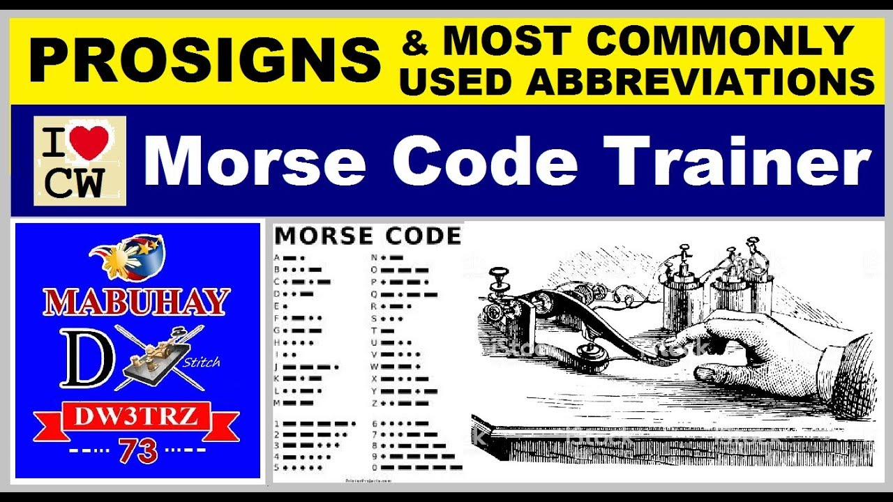 Ham Radio: Morse Code Trainer | Prosigns and Most Commonly Used