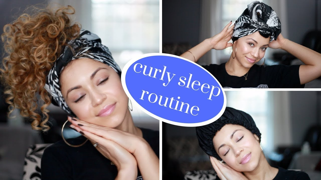 How To Use A Silk Scarf My Curly Hair Sleep Routine Preserve Curls Overnight Youtube Curly Hair Overnight Hair Plopping Overnight Hairstyles
