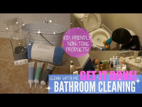 CLEAN WITH ME 2018// CLEANING MOTIVATION// BATHROOM CLEANING + Non toxic products