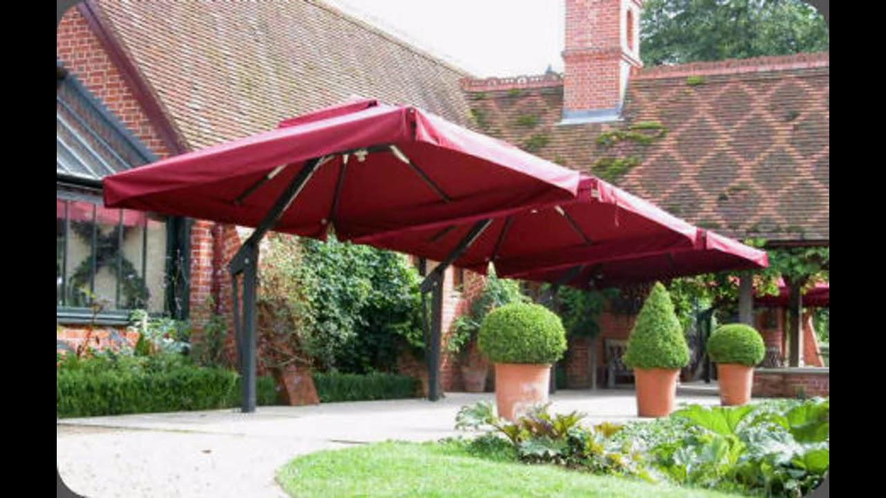 Large patio umbrellas design ideas - YouTube