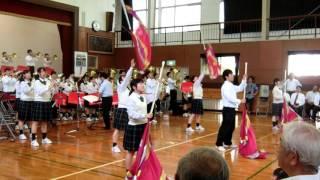 大牟田高等学校吹奏楽部(山川東部小学校閉校記念事業)。