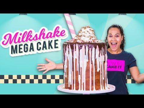 Massive Milkshake MEGA CAKE!!   How To Cake It