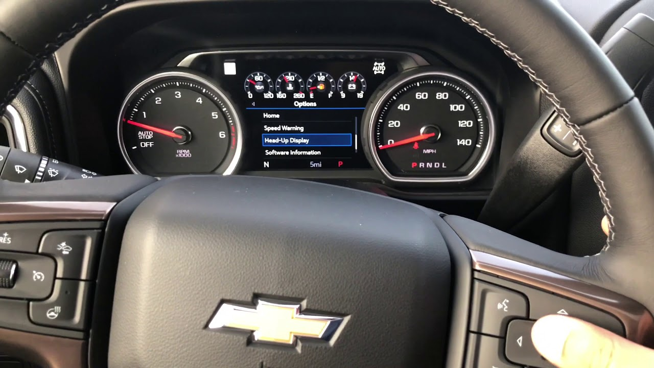 How To Adjust Your Heads Up Display On Your 2019 Silverado Youtube