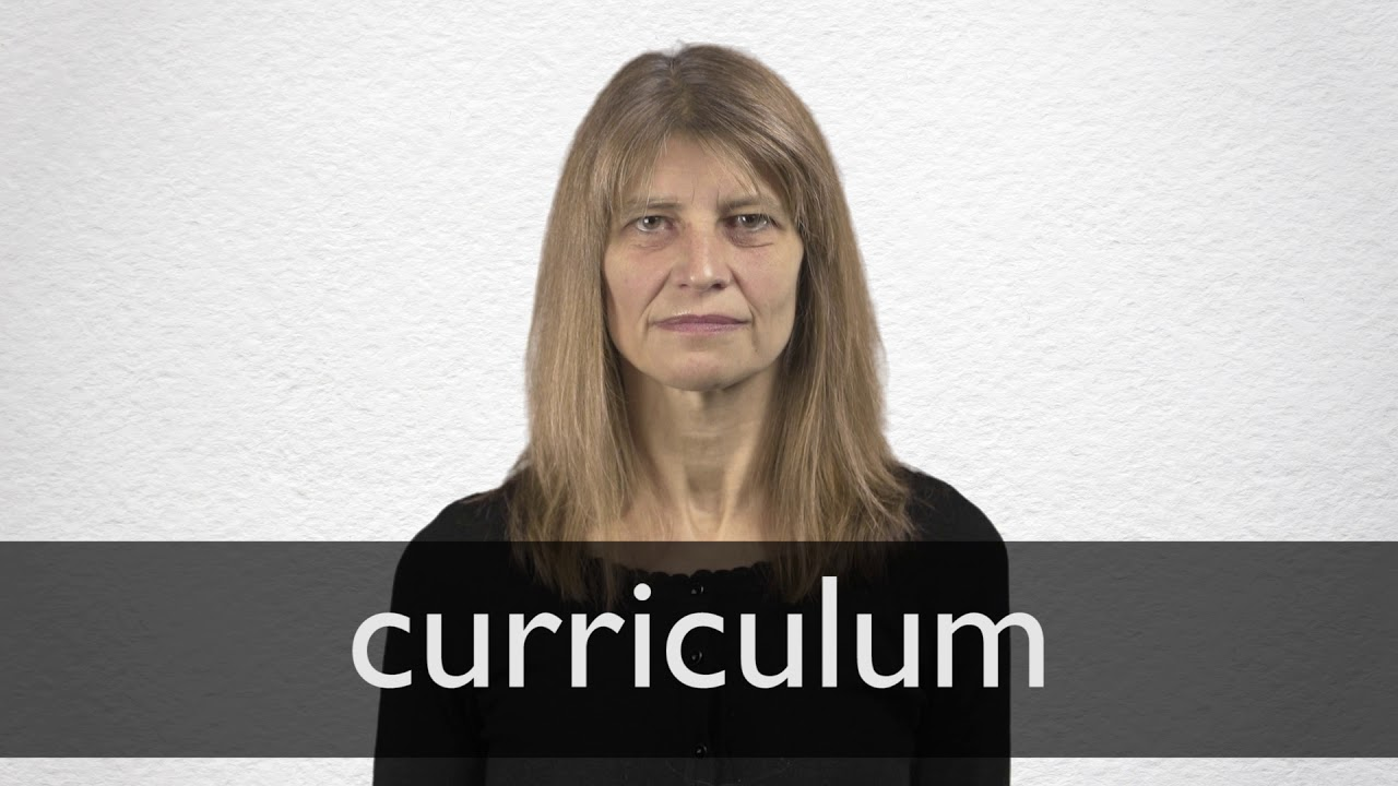 How To Pronounce Curriculum In British English Youtube