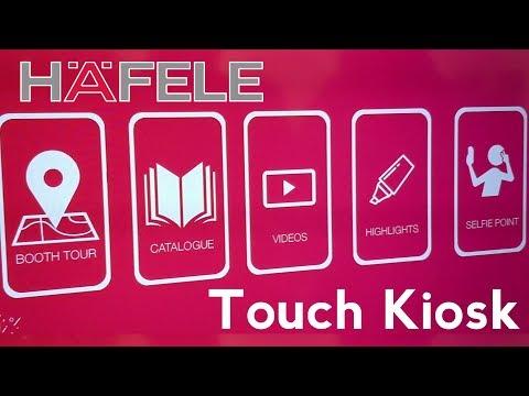 Interactive Touch Kiosk | Hafele | AceTech 2017 | Mumbai