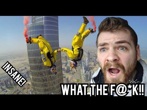 Dream Jump Dubai 4K | EPIC BASE JUMP BURJ KHALIFA | Reaction