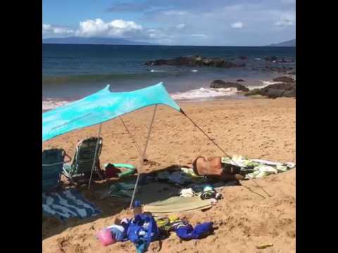 Neso Tents in the Maui wind