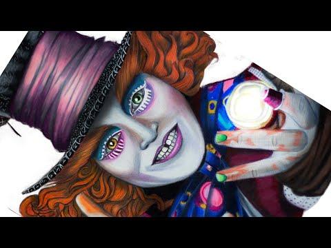 Desenhando Chapeleiro Maluco The Mad Hatter Johnny Depp Alice