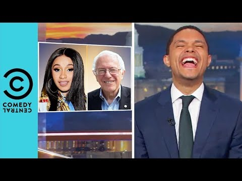 Cardi B Ft. Bernie Sanders 'Social Security' | The Daily Show With Trevor Noah