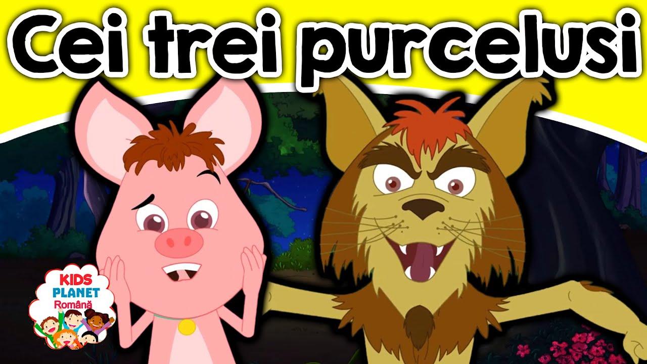 Cei trei purcelusi | Povesti Pentru Copii | Basme În Limba Română | Desene Animate