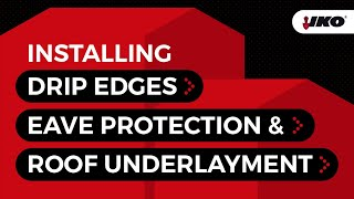 How to Protect your Roof with Drip Edges and Underlayment
