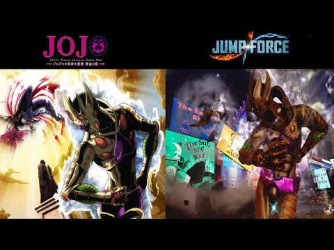 COMPAIRING JUMP FORCE TO THE ANIME (Girono Giovanna ) references