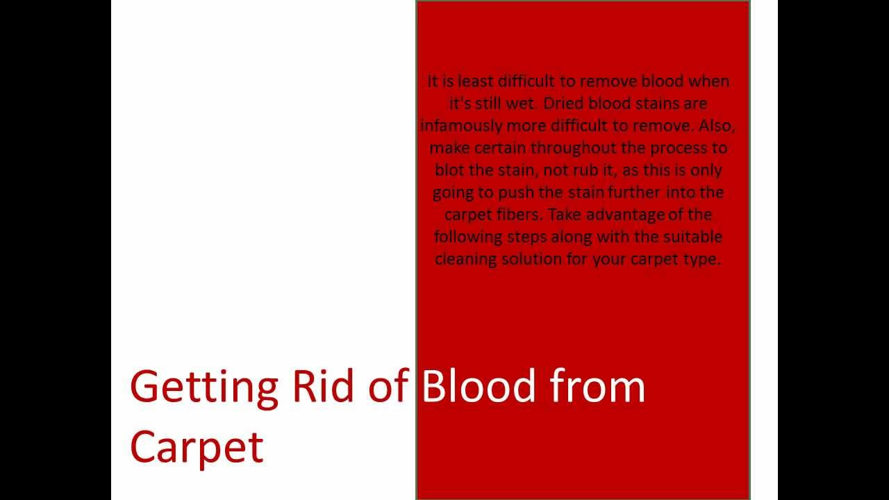 Red Blood Spills On Your Carpets What Carpet Cleaning