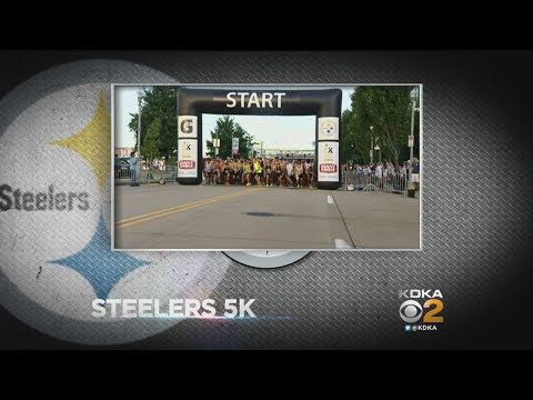 Runners Participate In Annual Steelers 5K Race & Fitness Walk