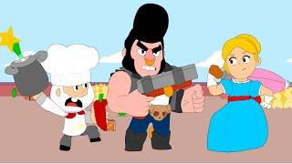 BRAWL STARS ANIMATION: DYNAMIKE vs BULLCOCHET!? vs PIPER (Parody)