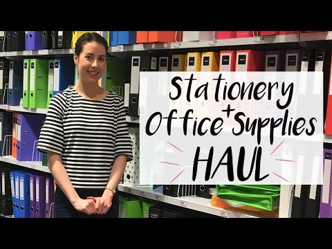Stationery & Office Supplies Haul | Back To Uni 2017