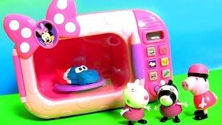 Forno Microondas Mágico da Loja de Laços da Minnie em Portugues BR Brasil Toys ~ Microwave Oven Toy