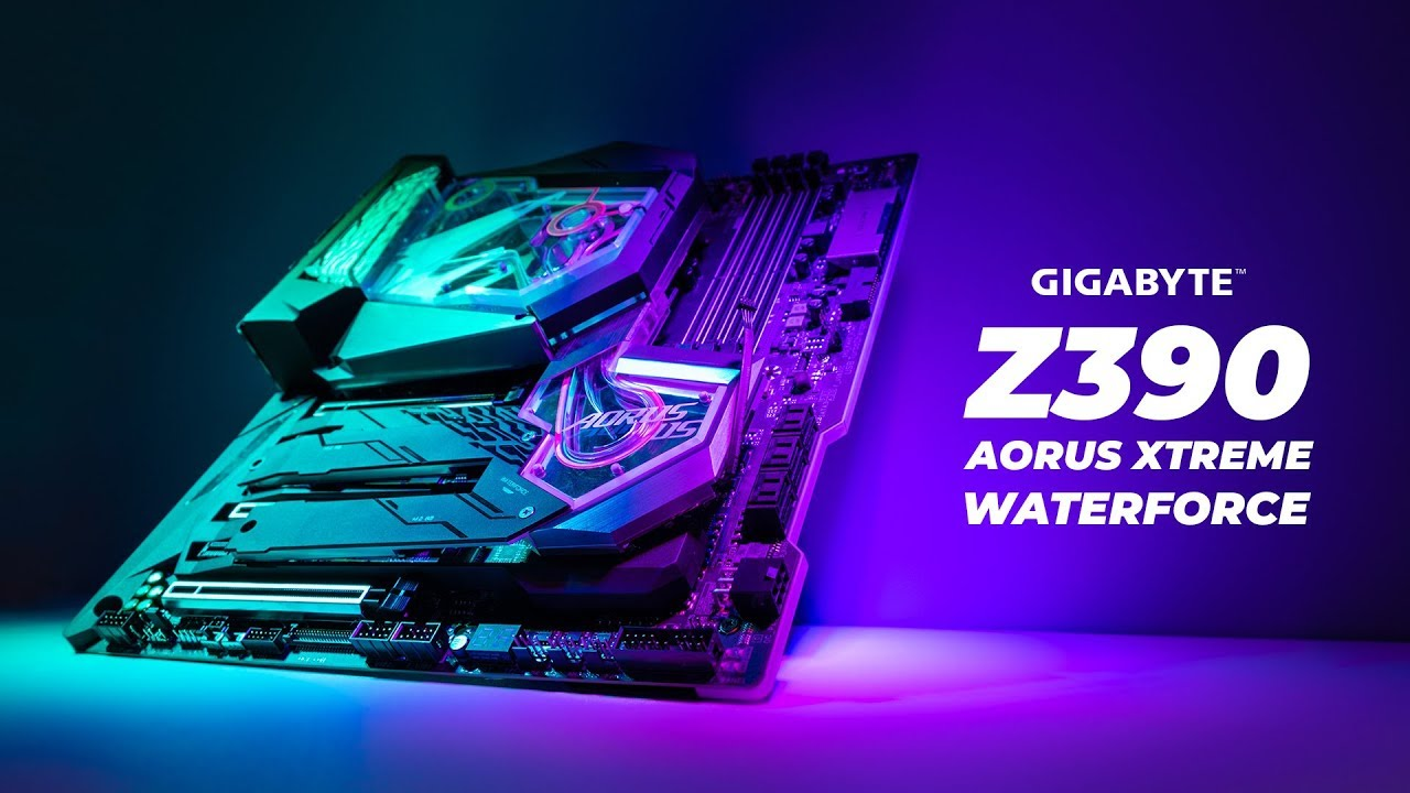 Gigabyte Z390 AORUS XTREME WATERFORCE - First Look & Unboxing 💦