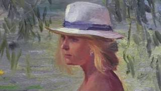 Игорь Сахаров, урок импрессионизма, портрет Ирины