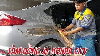 Thợ Gò Thợ Đồng Làm Lại Xe Ô TÔ HONDA City Bị Móp - Fix The Car