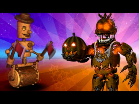 Five Nights at Freddy's (FNAF World) Nightmare Jack O Chica Update 2 Mod Gameplay