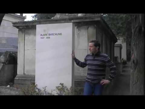 Tombe d'Alain Bashung au cimetière du Père Lachaise