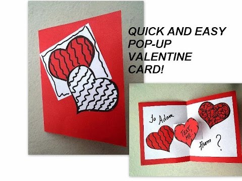 VALENTINE POP UP CARD easy diy cards YouTube – How to Make a Valentine Pop Up Card
