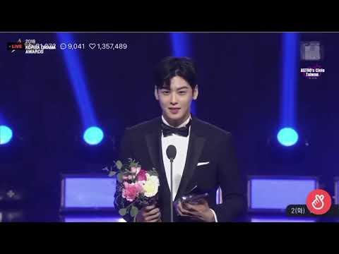 天空繁中字181002 Korea Drama Awards車銀優차은우 男子新人賞&韓流STAR賞 得獎感言