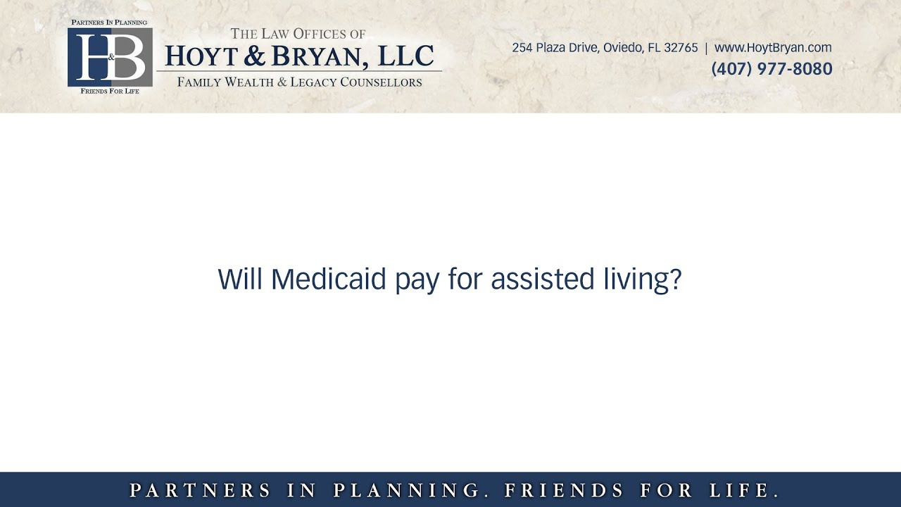 Will medicaid pay for assisted living? - YouTube