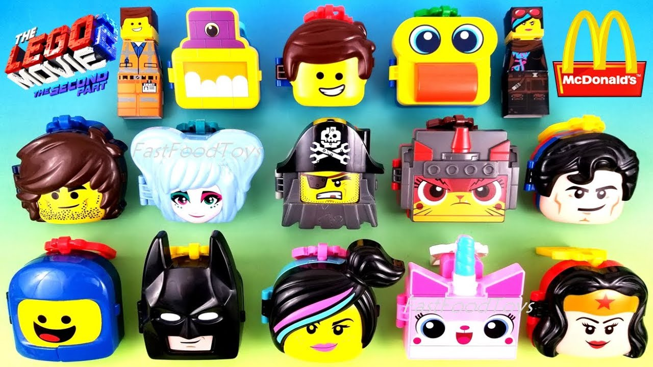 2019 FULL WORLD SET McDONALD'S LEGO MOVIE 2 THE SECOND PART HAPPY MEAL TOYS EUROPE ASIA US UNBO