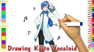 Cách Vẽ Kaito Trong Vocaloid - How to draw Kaito