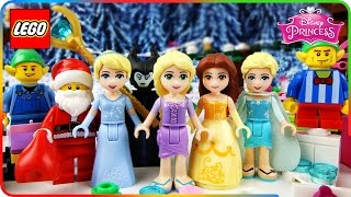 ♥ LEGO Disney Princess ENCHANTED CHRISTMAS with Santa Beautiful Cartoons Compilation