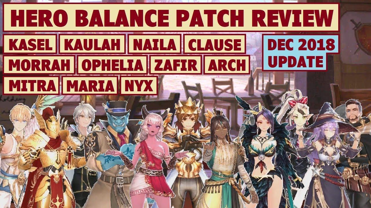 King's Raid - Hero Balance Patch Review (Dec 2018 Update) + Post Buff  Performance Test