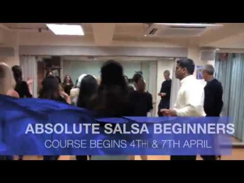 NEW APRIL 2018 ABSOLUTE SALSA BEGINNER 4 WEEK CLASSES