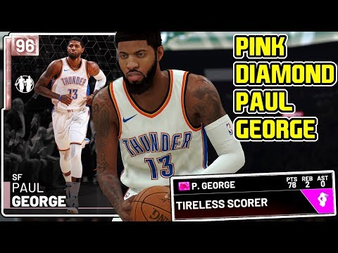 c209d4247e16 PINK DIAMOND PAUL GEORGE 78PT GAMEPLAY! HES SERIOUSLY UNSTOPPABLE! NBA 2k19  MyTEAM