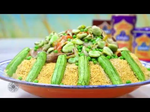 choumicha-:-couscous-complet-aux-légumes-verts-|-whole-wheat-couscous-with-green-vegetables