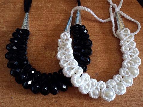 Collana Perle E Crochet Tutorial Uncinetto Bijoux Youtube