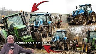 ㋡Zimowa Orka  na dwa traktory!!! GR Kubik ㋡John Deere 6620 & New Holland t7.165S㋡