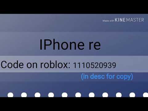Iphone Remix Roblox Code Youtube
