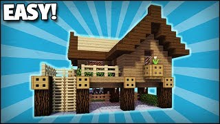 Minecraft: How To Build A Small Starter Survival House 1 - Easy Tutorial