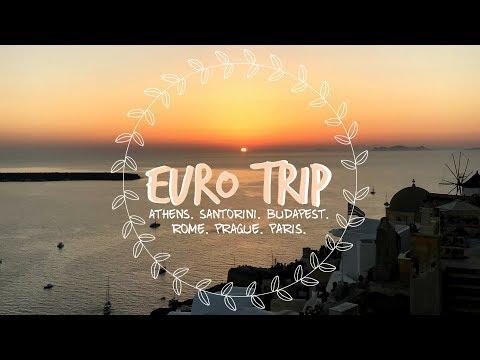 TRAVEL VLOG: EURO TRIP | ATHENS, SANTORINI, BUDAPEST, ROME, PRAGUE + PARIS