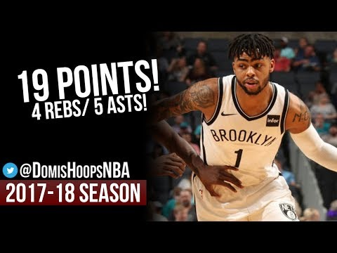 D'Angelo Russell Full Highlights   February 22, 2018   Brooklyn Nets at Charlotte Hornets!