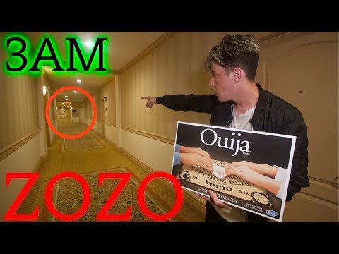 TERRIFYING OUIJA BOARD CONTACTING ZOZO AT HAUNTED HOTEL **DEMON TRIES ESCAPING**