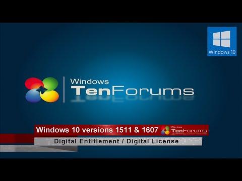 Windows 10 Digital Activation: Entitled to Digital License when ...